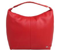 Handtasche, Leder, Marken-Emblem, Rot