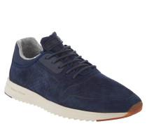 Sneaker, Kalbvelours-Leder, Profilsohle, Blau