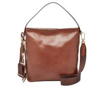 "Handtasche ""Maya Small Hobo"", Leder, Schultergurt, Braun"