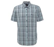 Freizeithemd, Comfort-Fit, Klappkragen, Brusttasche, gestreift, Grün