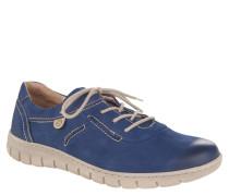 "Sneaker ""Steffi 07"", Leder, Ziernähte, Blau"