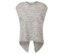 "T-Shirt ""Marble"", Rückenschlitz, meliert, für Damen, Grau"