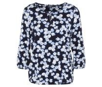Shirt, 3/4-Arm, Blumenmuster, Gummibund