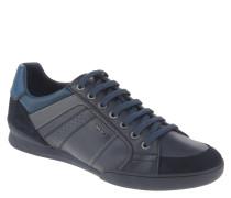 "Sneaker ""Kristof"", Wechselfußbett, Leder, Blau"
