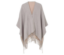 Poncho, Fransen, Two-Tone-Look