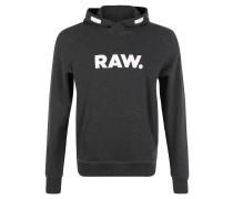 Sweatshirt, Melange, Logo-Print, Känguru-Tasche, Grau