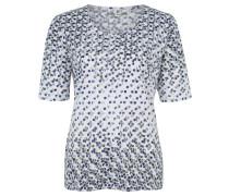 Shirt, 3/4-Ärmel, Muster, Große Größen, Weiß
