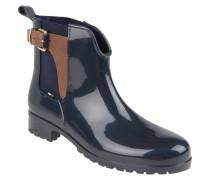 Gummi-Boots, Chelsea-Stil, Schnalle, Einkerbung, Blau