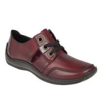 Sneaker, Leder, Lack-Details, Wulstnaht, große Ösen
