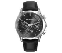 Herrenuhr, Chronograph, Botzaris Homme, Steel, Black, PC107201F02