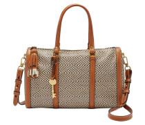 "Handtasche ""Kendall Satchel Natural"", Rautenmuster, Mehrfarbig"
