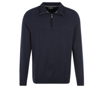 Sweatshirt, Stehkragen mit Reißverschluss, Aufnäher, Blau