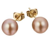 Perlen-Ohrstecker Gold 375 Süßwasser-Zuchtperle 7,0-7,5mm