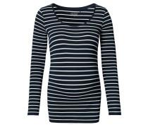 "Umstands-Langarmshirt ""Lely"", Streifen-Design, Blau"