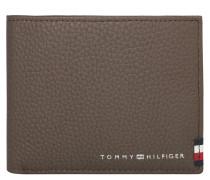"""Brieftasche """"Mini"""", genarbtes Rindsleder, Logo"""