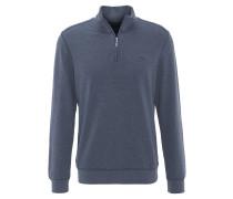 Sweatshirt, Reißverschluss, Rippbündchen, Blau