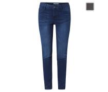 Jeans, Slim Fit, helle Waschung, Baumwoll-Mix, Grau