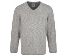 Pullover,Strick, Große Größen, Rollsäume, Grau