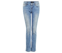 "Jeans ""Aspen"", Slim Fit, Used-Waschung, Ziernähte"