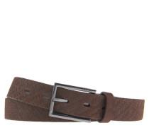 Ledergürtel, Logo-Prägung, uni