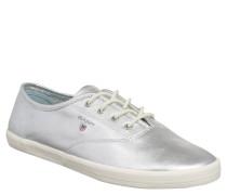"Sneaker, ""New Haven"", Leder, Metallic-Look, Silber"