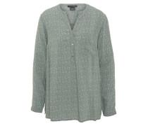 Blusenshirt, Langarm, gepunktet, Henley-Ausschnitt, Grün