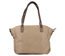 "Shopper ""Atena"", Flecht-Design, Taupe"