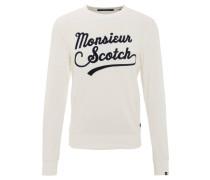 Sweatshirt, Stickerei-Schriftzug, meliert, Mehrfarbig