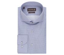 Businesshemd, Haifisch, bügelfrei, Custom Fit, Blau