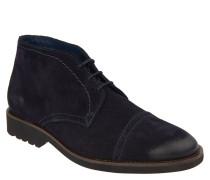 Desert-Boots, Veloursleder, Used-Look, Lochmuster