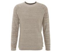 Pullover, uni, strukturiert, Beige