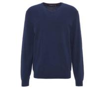 Pullover, V-Ausschnitt, Rippenbund
