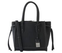 "Handtasche ""Lea"", Leder-Optik, Logo-Anhänger"