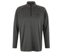 Langarm-Shirt, Reißverschluss, für Herren, Grau