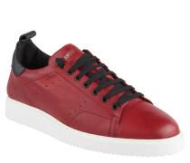 Sneaker, uni, Leder, Wechselsohle, Rot