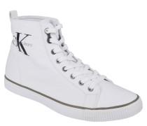 "Sneaker ""Arthur"", Canvas, Logo-Druck, Weiß"