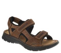Sandalen, Klettverschluss, flexibel, Braun