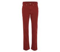 Jeans, straight fit, 5 -Pocket-Stil, Marken-Lederpatch, Rot