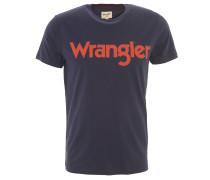 T-Shirt, Marken-Aufdruck, Rundhals, Baumwolle