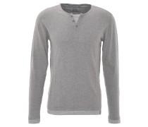 Pullover, Henley-Stil, Lagen-Look, reine Baumwolle, Grau