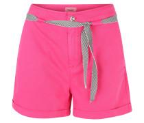 Shorts, Baumwollmischung, Bindegürtel, Pink