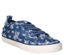 """Sneaker """"Jolie"""", Jeans, Sterne, Used-Look, Blau"""