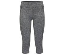 Tights, Sporthose, meliert, 3/4-Länge, Reißverschlusstasche hinten, für Damen