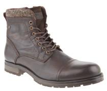 Stiefel, Leder, Reißverschluss, Profilsohle, Braun