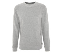 Sweatshirt, leichter Baumwoll-Mix, Bündchen, Grau
