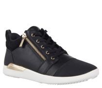 """Sneaker """"Naven"""", Reißverschluss, Materialmix, Schwarz"""