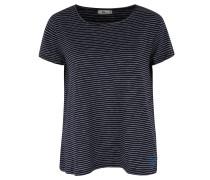 T-Shirt, gestreift, Loose Fit, ausgestellter Saum