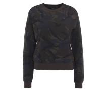 Sweatshirt, Camouflage, leicht, Stretch-Saum, Oliv