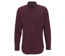 Hemd, gemustert, Baumwolle, Rot