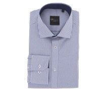 "Businesshemd ""Black Label"", Slim Fit, Kent Kragen, Streifen, Blau"